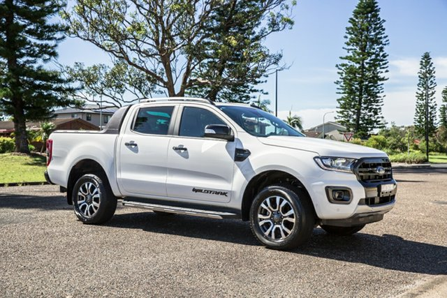 Used Ford Ranger PX MkIII 2019.75MY Wildtrak Port Macquarie, 2019 Ford Ranger PX MkIII 2019.75MY Wildtrak White 10 Speed Sports Automatic Double Cab Pick Up