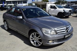 2010 Mercedes-Benz C-Class W204 MY10 C250 CGI Avantgarde Silver 5 Speed Sports Automatic Sedan.
