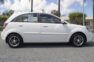 2009 Kia Rio JB MY09 LX White 4 Speed Automatic Hatchback