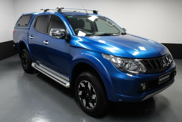 Used Mitsubishi Triton MQ MY18 Exceed Double Cab Hamilton, 2018 Mitsubishi Triton MQ MY18 Exceed Double Cab Blue 5 Speed Sports Automatic Utility
