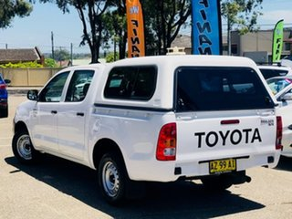 2008 Toyota Hilux TGN16R MY09 Workmate 4x2 White 4 Speed Automatic Utility.