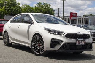 2020 Kia Cerato BD MY21 GT Safety Pack Clear White 7 Speed Auto Dual Clutch Sedan.