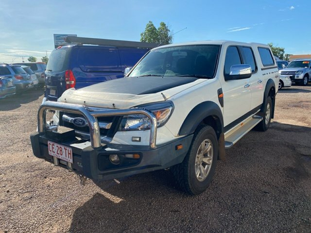 Used Ford Ranger PK XLT Crew Cab Berrimah, 2010 Ford Ranger PK XLT Crew Cab White 5 Speed Automatic Utility