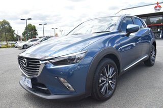 2017 Mazda CX-3 DK4W7A Akari SKYACTIV-Drive i-ACTIV AWD Blue 6 Speed Sports Automatic Wagon