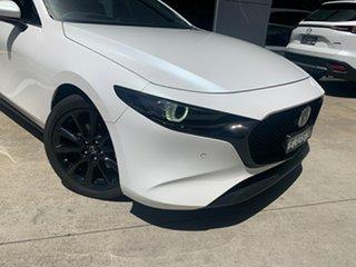 2020 Mazda 3 BP2HHA X20 SKYACTIV-Drive Astina Snowflake White 6 Speed Sports Automatic Hatchback.