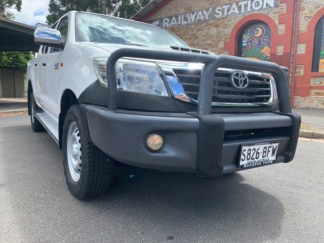 Used Toyota Hilux KUN26R MY14 SR Double Cab Cheltenham, 2015 Toyota Hilux KUN26R MY14 SR Double Cab White 5 Speed Automatic Utility