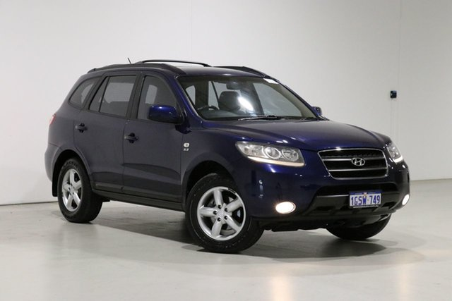 Used Hyundai Santa Fe CM MY07 Upgrade SLX (FWD) Bentley, 2008 Hyundai Santa Fe CM MY07 Upgrade SLX (FWD) Blue 5 Speed Automatic Wagon