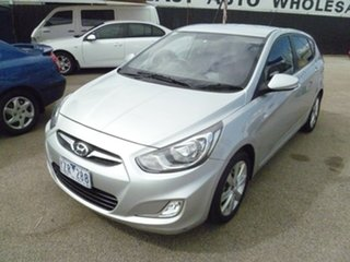 2012 Hyundai Accent RB Premium Silver 4 Speed Sports Automatic Hatchback