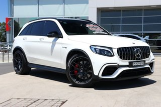 2018 Mercedes-Benz GLC-Class X253 GLC63 AMG SPEEDSHIFT MCT 4MATIC+ S White 9 Speed Sports Automatic.