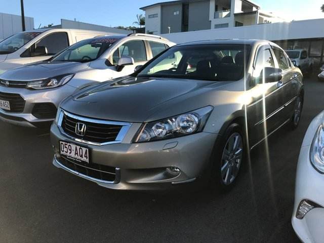 Used Honda Accord 8th Gen MY10 V6 Luxury Mount Gravatt, 2010 Honda Accord 8th Gen MY10 V6 Luxury Beige 5 Speed Sports Automatic Sedan