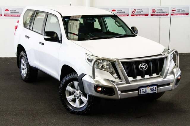 Pre-Owned Toyota Landcruiser Prado GDJ150R GX Myaree, 2017 Toyota Landcruiser Prado GDJ150R GX Glacier White 6 Speed Sports Automatic Wagon