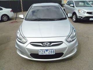 2012 Hyundai Accent RB Premium Silver 4 Speed Sports Automatic Hatchback.