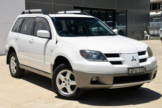 2003 Mitsubishi Outlander ZE LS White 4 Speed Sports Automatic Wagon.