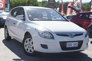 2011 Hyundai i30 FD MY11 SX Ceramic White 5 Speed Manual Hatchback.