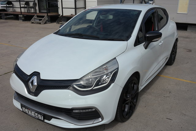 Used Renault Clio IV B98 R.S. 200 EDC Sport Maryville, 2014 Renault Clio IV B98 R.S. 200 EDC Sport White 6 Speed Sports Automatic Dual Clutch Hatchback