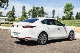 2020 Mazda 3 BP2SLA G25 SKYACTIV-Drive GT Pearl White 6 Speed Sports Automatic Sedan