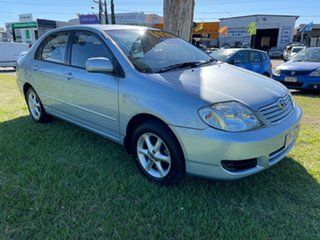 2004 Toyota Corolla ZZE122R 5Y Ascent Blue 4 Speed Automatic Sedan.