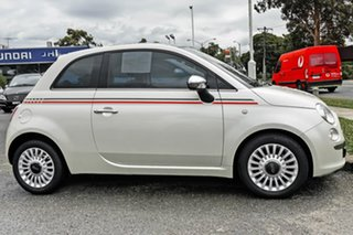 2014 Fiat 500 Series 3 Lounge Dualogic White 5 Speed Sports Automatic Single Clutch Hatchback