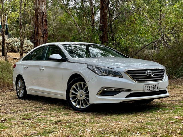 Used Hyundai Sonata LF Active Reynella, 2015 Hyundai Sonata LF Active Ice White 6 Speed Sports Automatic Sedan