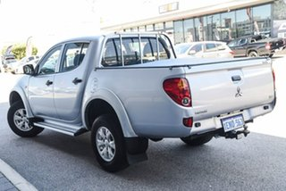 2013 Mitsubishi Triton MN MY14 GLX Double Cab Silver 4 Speed Sports Automatic Utility