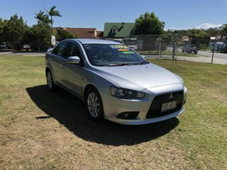 2014 Mitsubishi Lancer CJ MY15 LS Silver 5 Speed Manual Sedan.