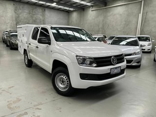 2015 Volkswagen Amarok 2H MY16 TDI420 4x2 White 8 Speed Automatic Cab Chassis.