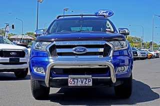 2015 Ford Ranger PX MkII XLT Double Cab Blue 6 Speed Manual Utility.