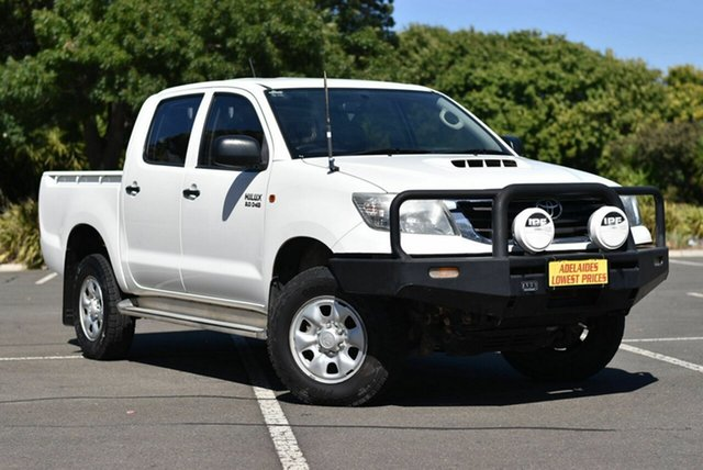 Used Toyota Hilux KUN26R MY12 SR Double Cab Enfield, 2013 Toyota Hilux KUN26R MY12 SR Double Cab White 4 Speed Automatic Utility