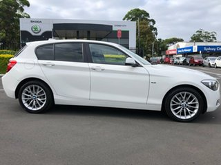 2014 BMW 1 Series F20 MY0713 116i Steptronic White 8 Speed Sports Automatic Hatchback.