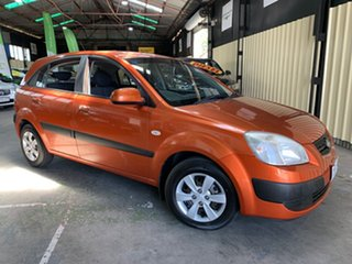 2007 Kia Rio JB EX Orange 5 Speed Manual Hatchback.