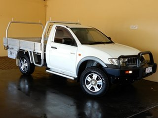 2008 Mitsubishi Triton ML MY08 GLX White 4 Speed Automatic Cab Chassis.