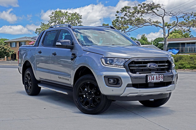 Used Ford Ranger PX MkIII 2020.75MY Wildtrak Capalaba, 2020 Ford Ranger PX MkIII 2020.75MY Wildtrak Aluminium 10 Speed Sports Automatic Double Cab Pick Up