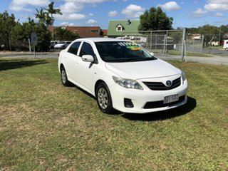 2012 Toyota Corolla ZRE152R MY11 Ascent White 6 Speed Manual Sedan.