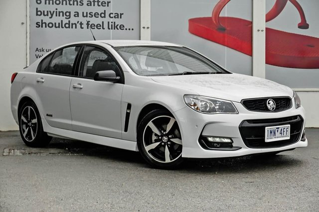 Pre-Owned Holden Commodore VF II MY16 SV6 Black Ferntree Gully, 2016 Holden Commodore VF II MY16 SV6 Black White 6 Speed Sports Automatic Sedan