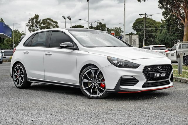 Used Hyundai i30 PDe.3 MY19 N Fastback Performance Nunawading, 2018 Hyundai i30 PDe.3 MY19 N Fastback Performance White 6 Speed Manual Coupe