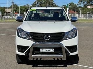 2018 Mazda BT-50 UR0YG1 XT Freestyle 4x2 Hi-Rider White 6 Speed Manual Cab Chassis.