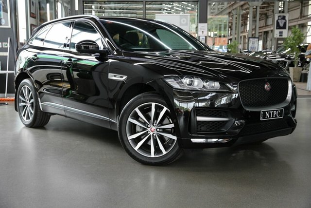 Used Jaguar F-PACE X761 MY17 R-Sport North Melbourne, 2016 Jaguar F-PACE X761 MY17 R-Sport Black 8 Speed Sports Automatic Wagon