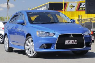 2015 Mitsubishi Lancer CJ MY15 GSR Sportback Lightning Blue 5 Speed Manual Hatchback.