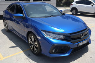 2017 Honda Civic 10th Gen MY17 VTi-LX Blue 1 Speed Constant Variable Hatchback.