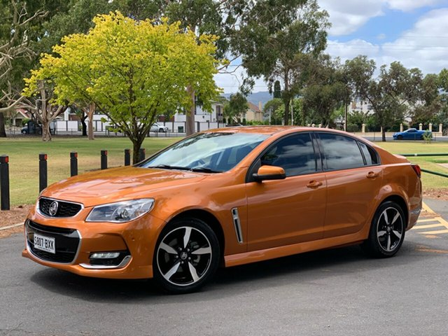 Used Holden Commodore VF II MY17 SV6 Hampstead Gardens, 2017 Holden Commodore VF II MY17 SV6 Orange 6 Speed Automatic Sedan