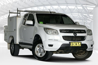 2015 Holden Colorado RG MY15 LS (4x4) White 6 Speed Manual Space Cab Chassis.