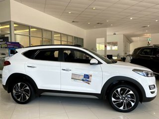 2020 Hyundai Tucson TL3 MY21 Highlander D-CT AWD Pure White 7 Speed Sports Automatic Dual Clutch