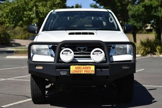 2013 Toyota Hilux KUN26R MY12 SR Double Cab White 4 Speed Automatic Utility.