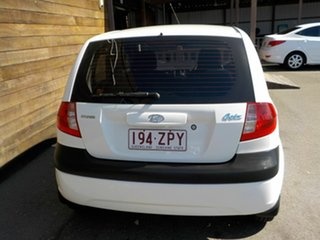 2008 Hyundai Getz TB MY07 SX White 4 Speed Automatic Hatchback