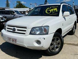 2004 Toyota Kluger MCU28R CVX AWD White 5 Speed Automatic Wagon.
