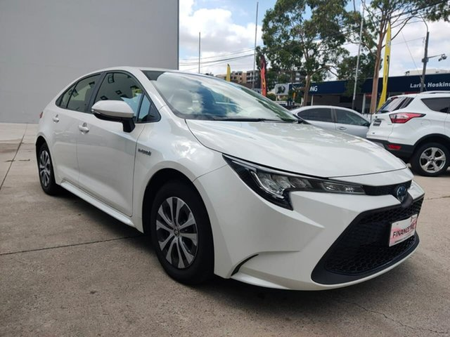 Used Toyota Corolla Goulburn, 2019 Toyota Corolla Ascent Sport - Hybrid White Constant Variable Sedan