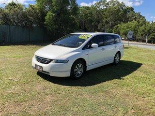2005 Honda Odyssey 3rd Gen Luxury White 5 Speed Sports Automatic Wagon.
