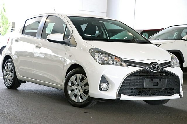 Pre-Owned Toyota Yaris NCP131R SX South Morang, 2016 Toyota Yaris NCP131R SX White 4 Speed Automatic Hatchback