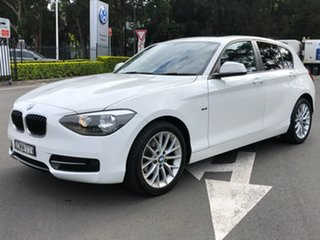 2014 BMW 1 Series F20 MY0713 116i Steptronic White 8 Speed Sports Automatic Hatchback