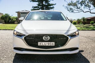 2020 Mazda 3 BP2SLA G25 SKYACTIV-Drive GT Pearl White 6 Speed Sports Automatic Sedan.